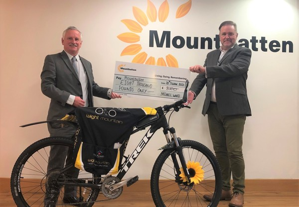 Michael cycles over 4,000 miles to raises £8,000 for Mountbatten