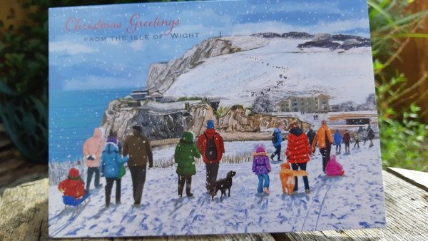 Walk the Wight Christmas cards